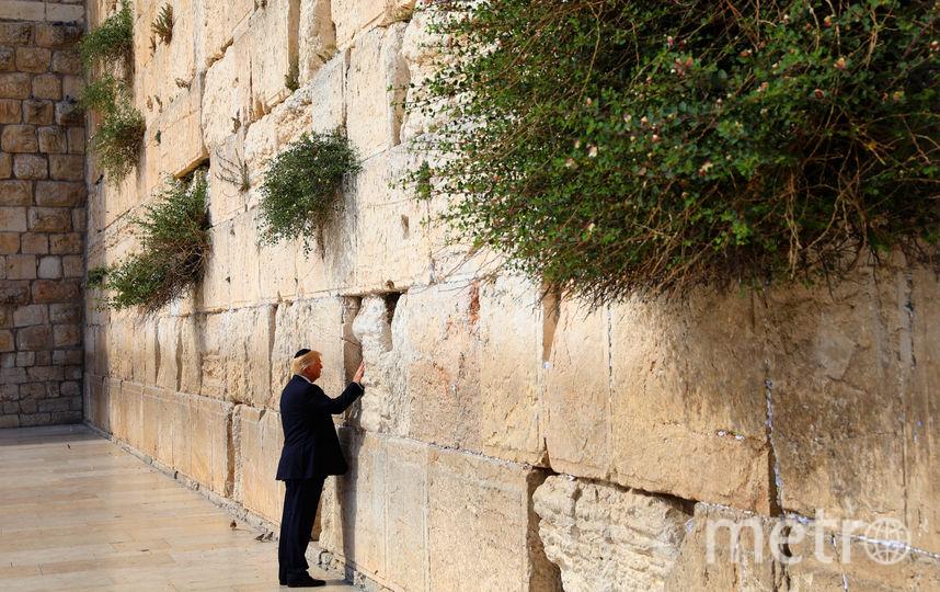 Дональд Трамп посетил Стену Плача в Иерусалиме. Фото AFP