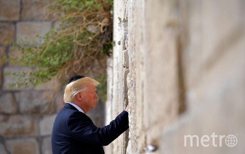 Дональд Трамп посетил Стену Плача в Иерусалиме