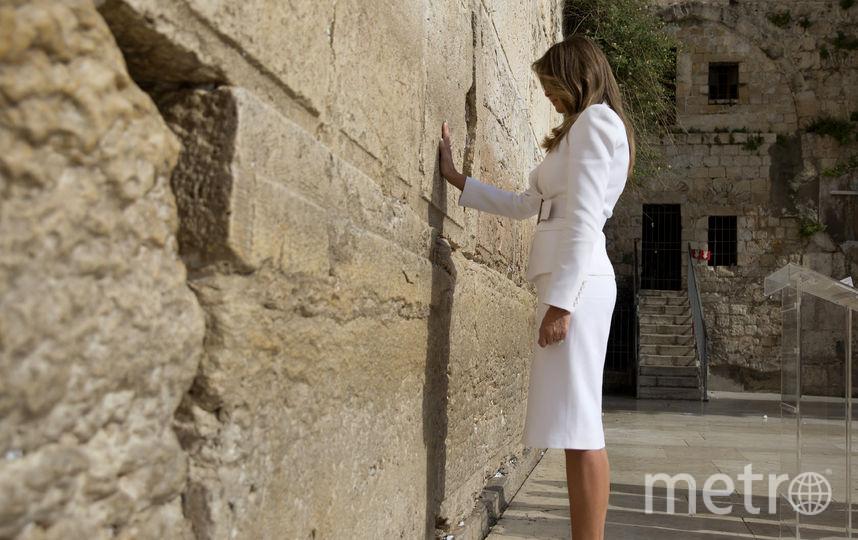Меланья Трамп возле Стены Плача в Иерусалиме. Фото AFP