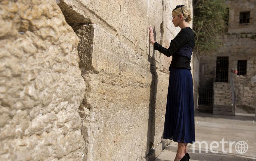 Иванка Трамп возле Стены Плача в Иерусалиме. Фото AFP