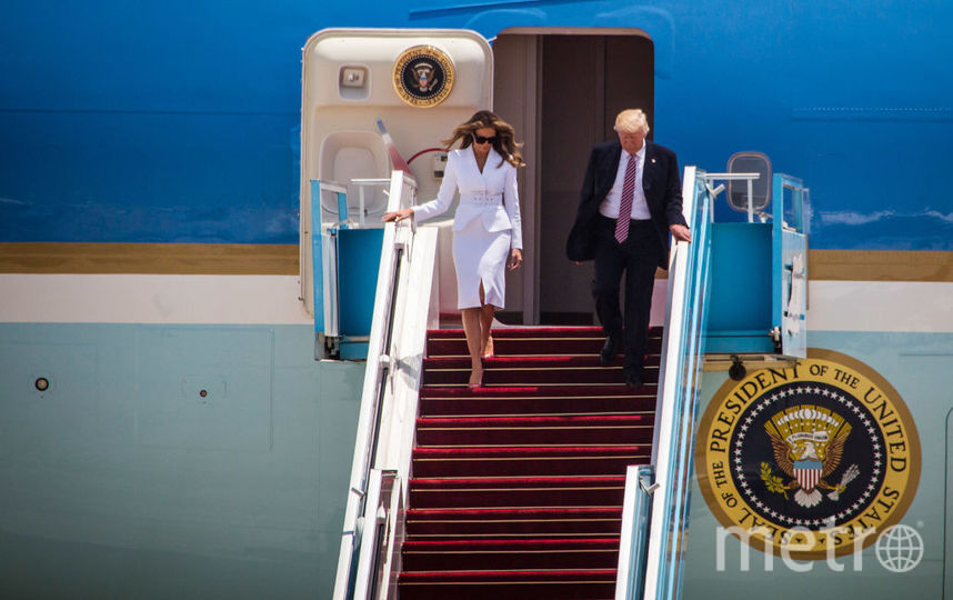 Мелания и Дональд Трамп прибыли в Израиль. Фото Getty