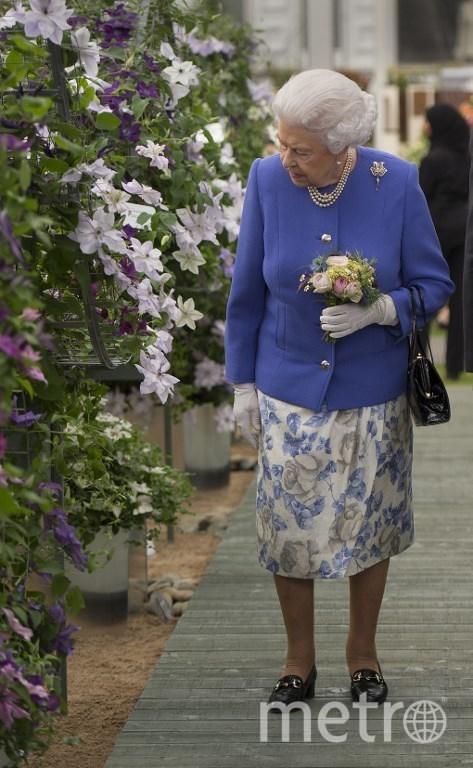 Королева Великобритании Елизавета II на цветочной выставке. Фото AFP