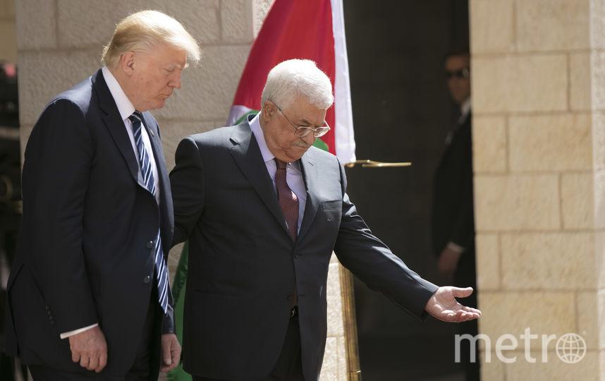 Президент США Дональд Трамп на встрече с палестинским лидером Махмудом Аббасом в Вифлееме. Фото AFP