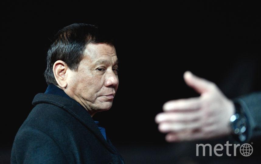 Президент Филиппин Родриго Дутерте прибыл в Москву. Фото AFP