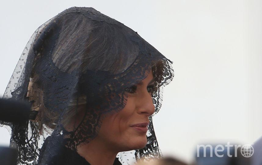 Меланья Трамп в «трауре» навестила Папу Римского. Фото Getty