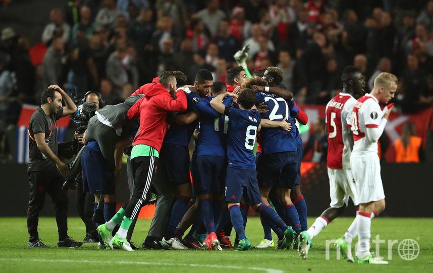 """Манчестер Юнайтед"" празднует победу в Лиге Европе. Фото Getty"