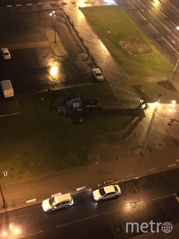 Пьяный петербуржец врезался в единственное дерево у Ледового дворца. Фото «ДТП и ЧП | Санкт-Петербург», vk.com