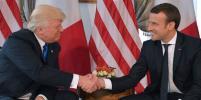 Дональд Трамп встретился с Эммануэлем Макроном в посольстве США в Брюсселе