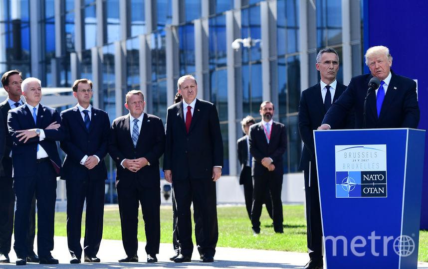 Дональд Трамп на саммите НАТО в Брюсселе. Фото AFP