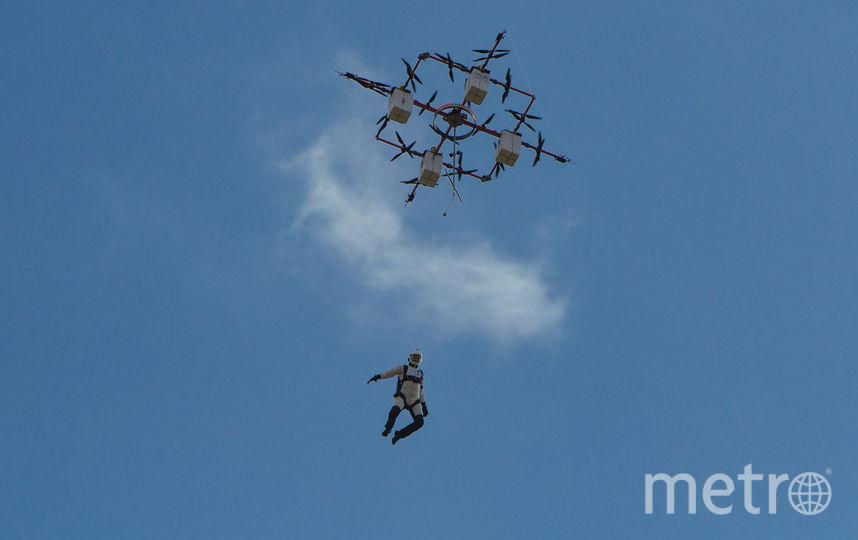 Прыжок с дрона. Фото Aerones