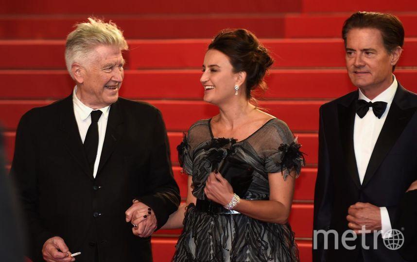 Дэвид Линч с супругой и Кайл Маклахлен. Фото Getty