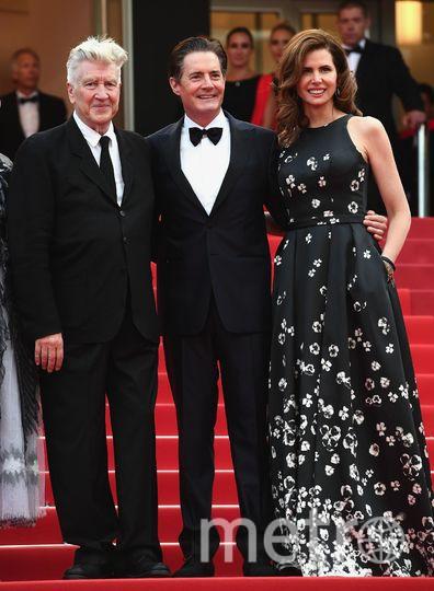 Кайл Маклахлен с супругой и Дэвид Линч. Фото Getty