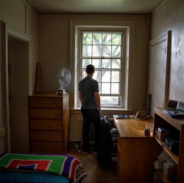 Марк вернулся в свою комнату в общежитии. Фото Скриншот instagram.com/zuck/?hl=ru.
