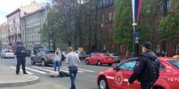 Машина сбила пешехода на Московском проспекте в Петербурге