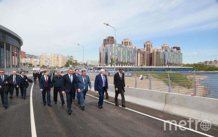 Яхтенный мост открыли для пешеходов в Петербурге в День города. Фото Все фото - gov.spb.ru