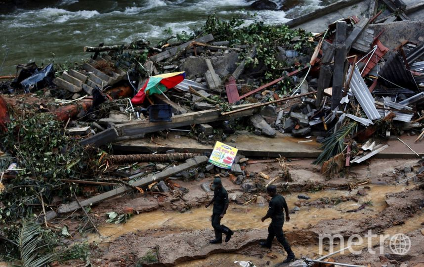Число жертв в результате наводненйи на Шри-Ланке резко возросло. Фото Скриншот Twitter