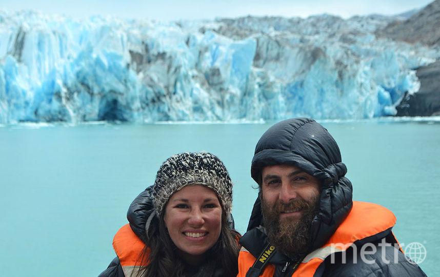 Виктор и Каролина у ледников Чили.