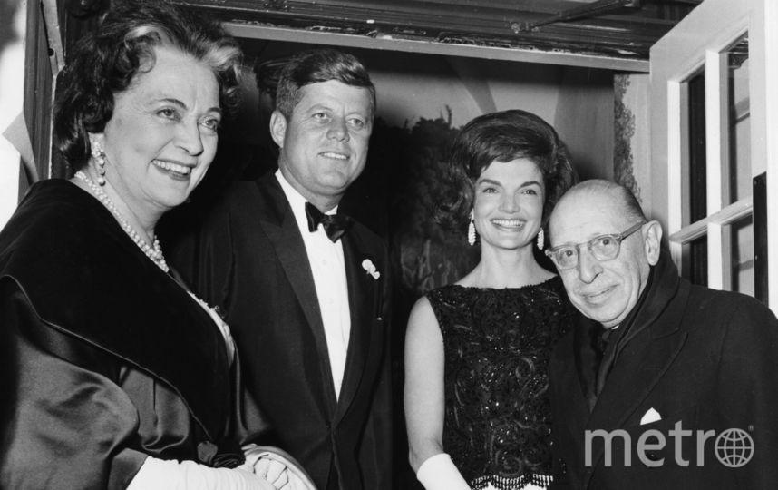 Джон и Жалкин Кеннеди с Игорем и Верой Стравинскими. Фото Getty