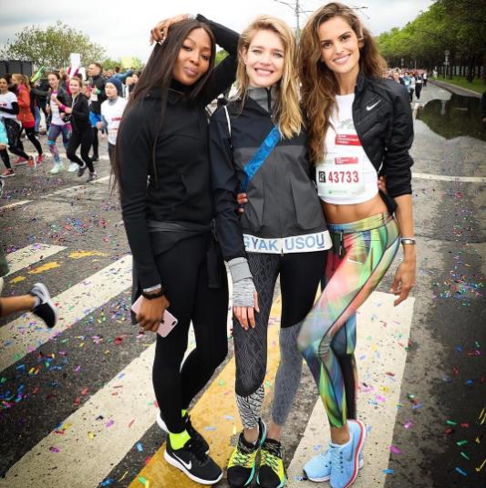 Наоми Кэмпбелл, Наталья Водянова и Изабель Гулар. Фото Instagram/izabelgoulart