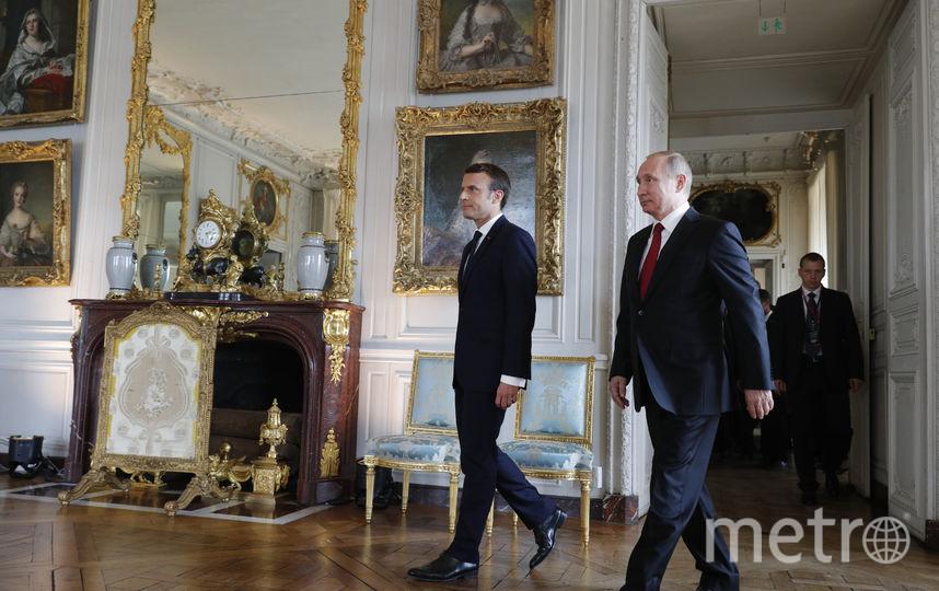 В Версале проходит встреча Владимира Путина и Эммануэля Макрона. Фото AFP