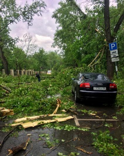 Ураган в Москве. Фото Instagram/lomaeva_olga