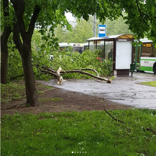 Ураган в Москве. Фото Instagram/milena_burgreen