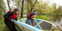 В Петербурге учат SUP-сёрфингу