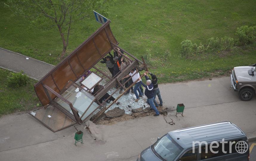 Снесённая остановка. Фото предоставил Алексей Терентьев