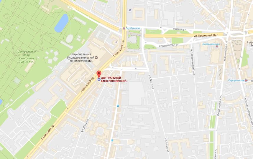 Центробанк на Ленинском проспекте в Москве. Фото google/maps
