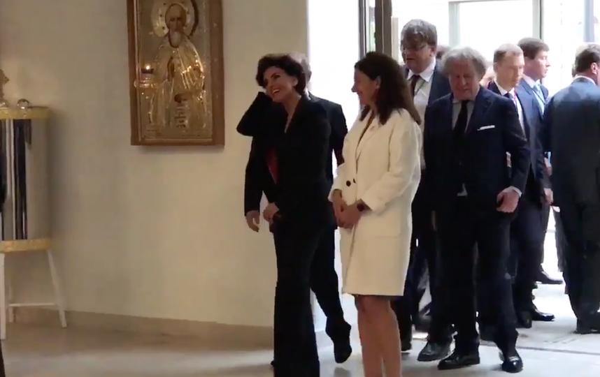 Путин в Российском духовно-культурном центре в Париже. Фото twitter.com/dimsmirnov175