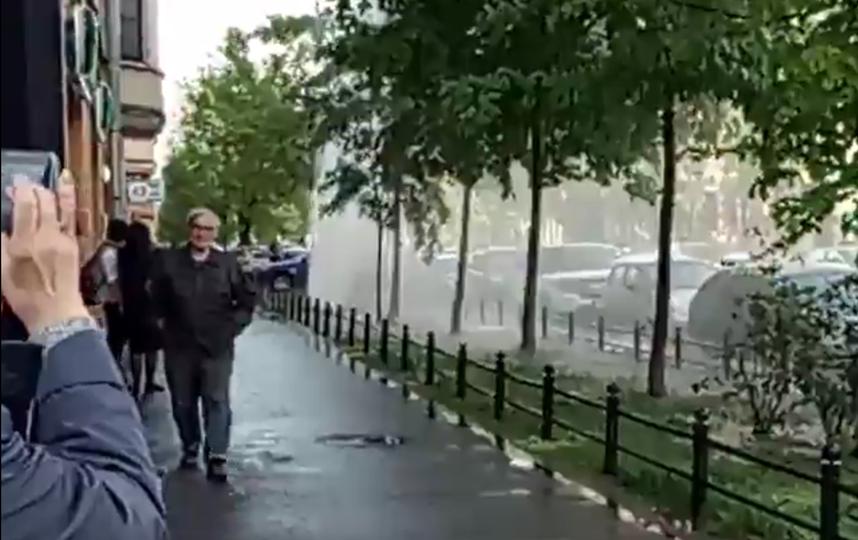 На3-й линии Васильевского острова ограничено движение из-за прорыва трубы