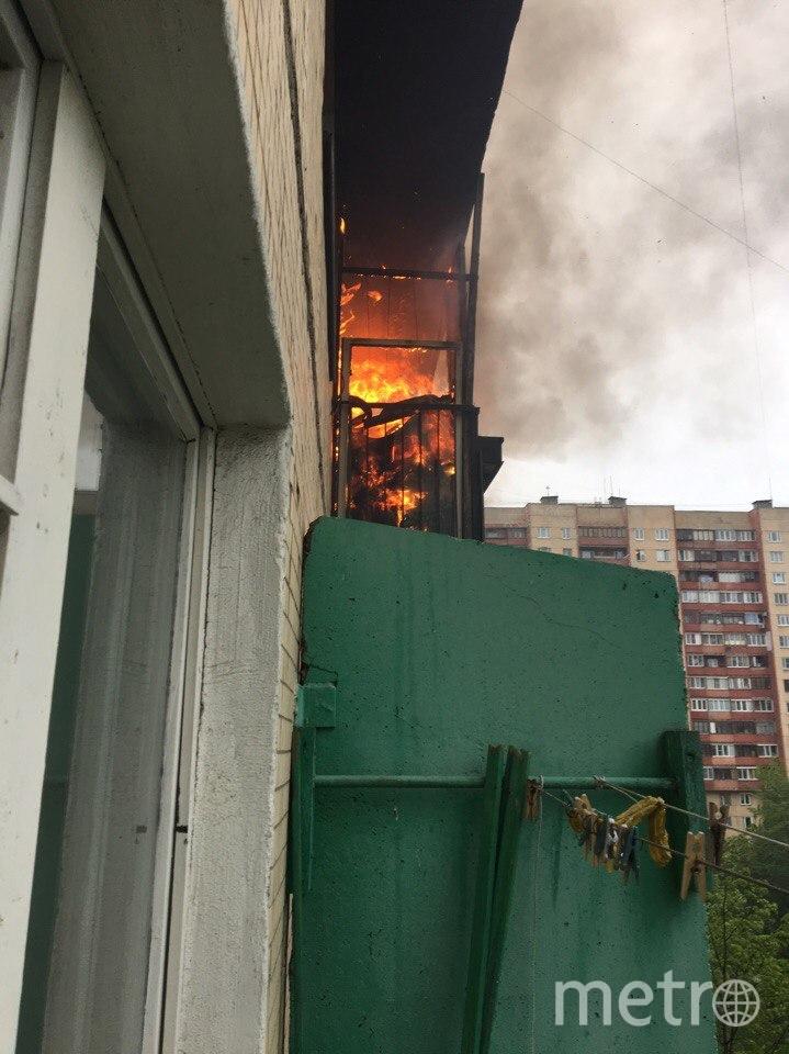 Пожар в доме на Ленинском. Фото vk.com