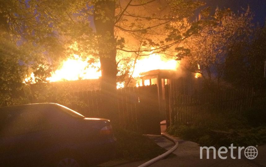 Работники ДПС Пушкинского района спасли жильцов горящего дома