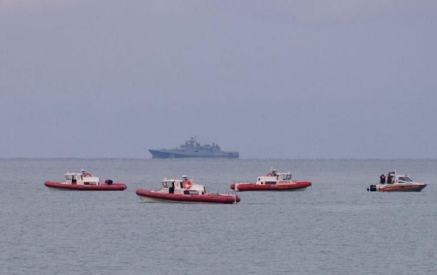 Поиски обломков Ту-154 в Чёрном море. Фото AFP