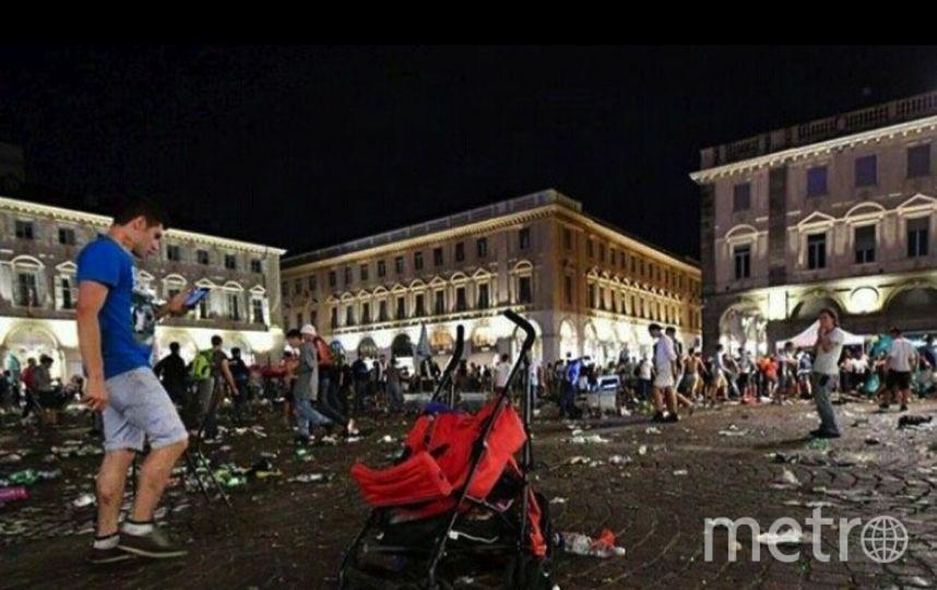 В Турине после финала Лиги чемпионов произошла давка.