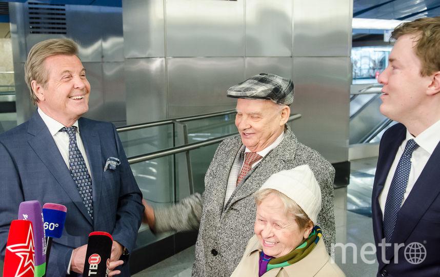 """На станции """"Деловой центр"""" выступил Лев Лещенко с премьерой песни о метро. Фото представлены Метрополитеном Москвы"""