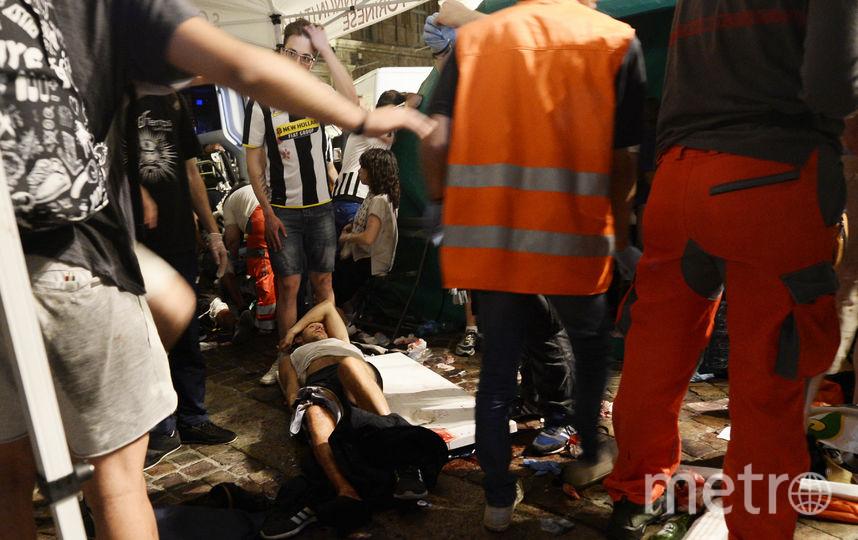 Давка в Турине. Фото AFP