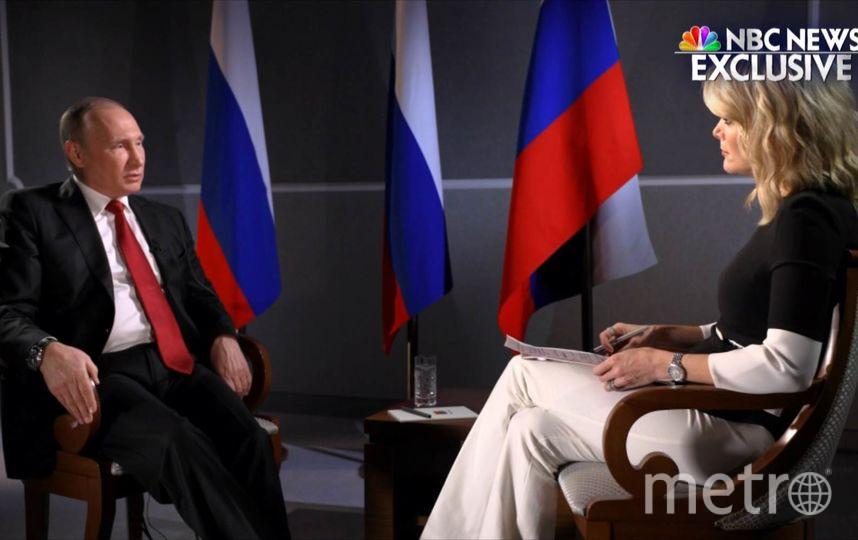 Интервью Владимира Путина телеканалу NBC. Фото скриншот NBC News