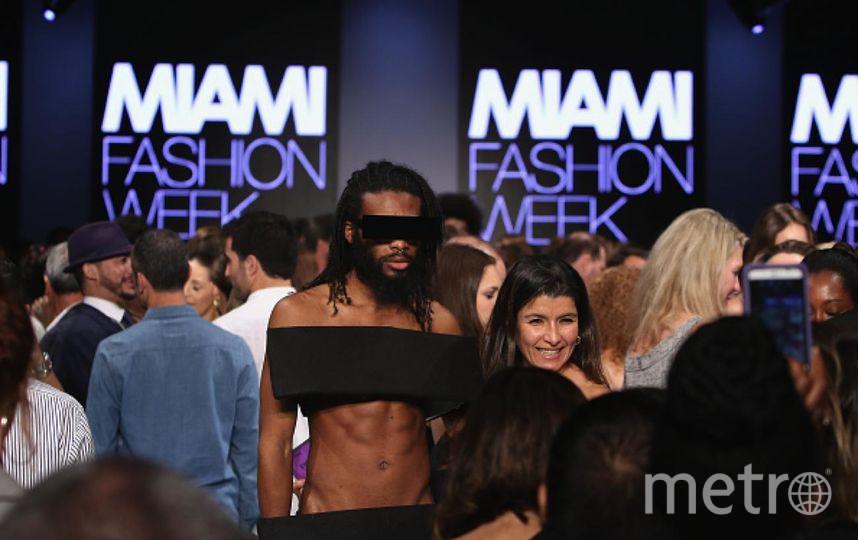 Гость на Неделе моды в Майами. Фото Getty