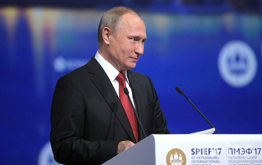 Владимир Путин на ПМЭФ. Фото Getty