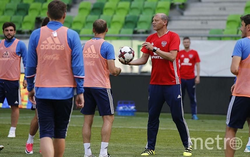 Тренировка сборной России перед матчем со сборной Венгрии 5 июня 2017 года. Фото www.rfs.ru