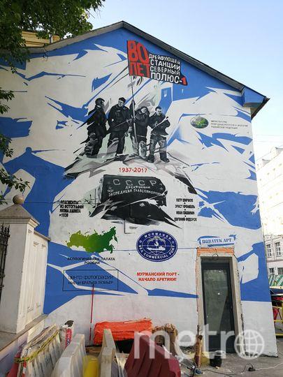 """""""Стена Папанина"""" до действий граффитистов-вандалов. Фото Минприроды"""