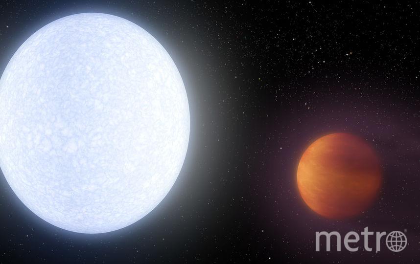 KELT-9b и KELT-9. Фото Nasa/JPL-Caltech/R. Hurt (IPAC)