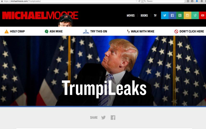 Сайт TrumpiLeaks. Фото michaelmoore.com/TrumpiLeaks