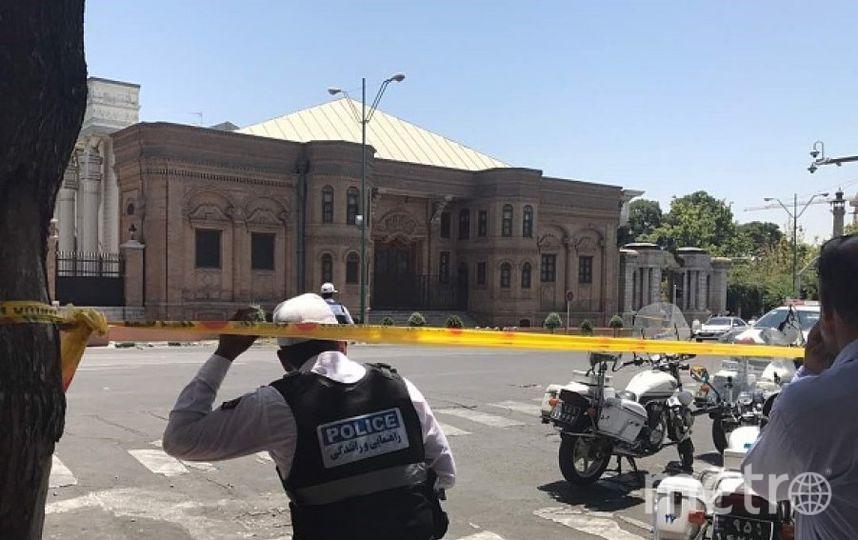 Оцепление после терактов в Тегеране. Фото Getty