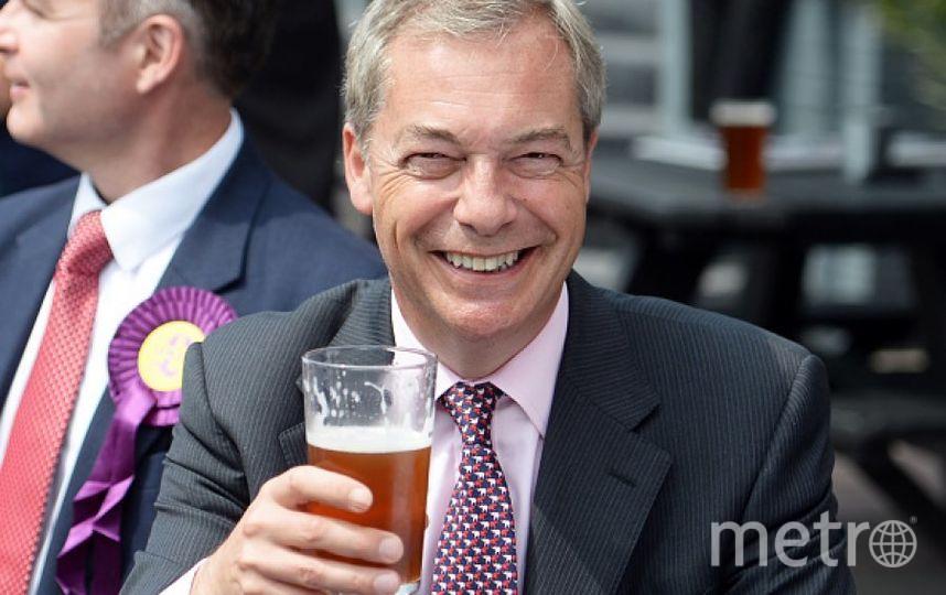 Британский политик Найджел Фарадж. Фото Getty
