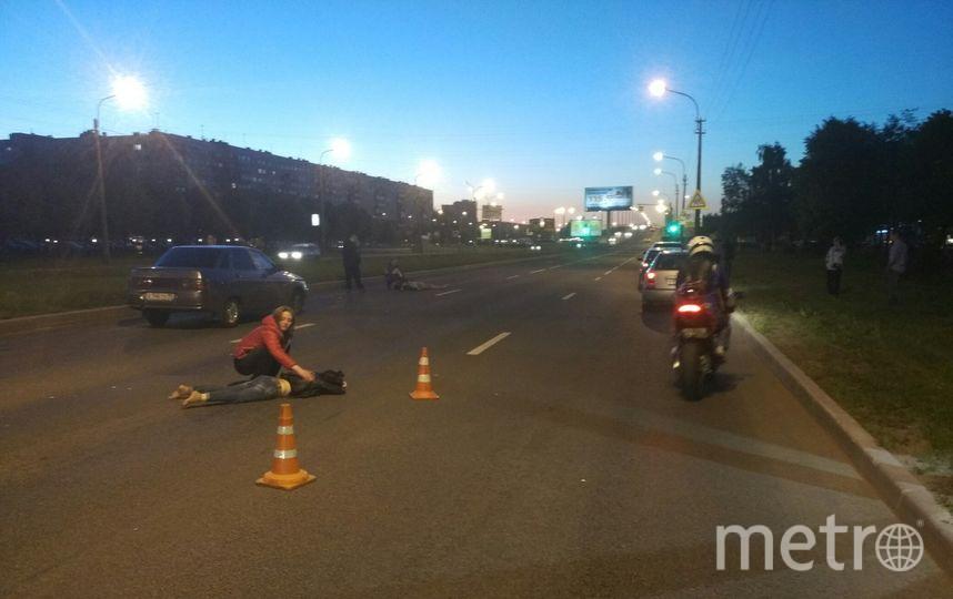 Серьезное ДТП с пешеходами произошло на пр.Культуры в Петербурге. Фото vk.com