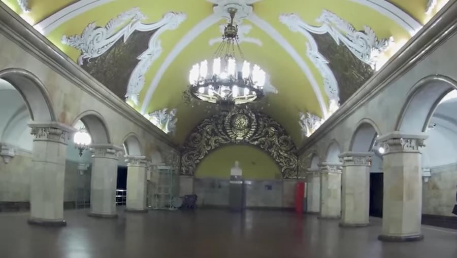 """Станция """"Комсомольская"""". Фото Скриншот Youtube"""