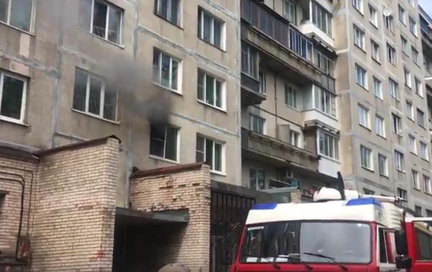 ВПетербурге за7 мин. сгорела квартира напроспекте Культуры