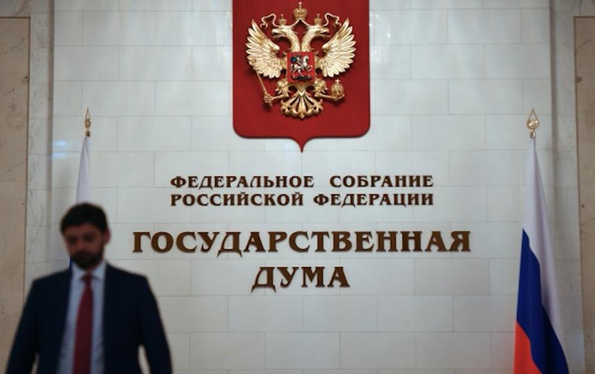 В здании Государственной Думы РФ на улице Охотный ряд в Москве. Фото  Рамиль Ситдиков, РИА Новости